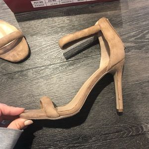 Lulus Beige Open Toe High-Heels - 6.5